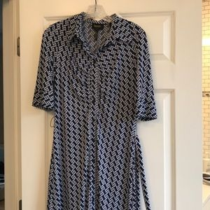 Laundry dress with tie in front 3/4 sleeves